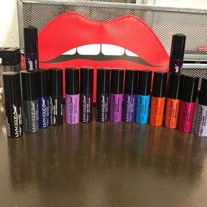 21 piece NYX lip suede set